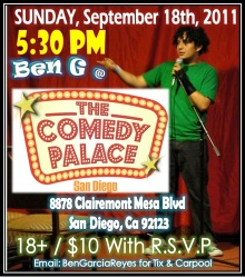 Ben G at Comedy Palace Sep 18 2011
