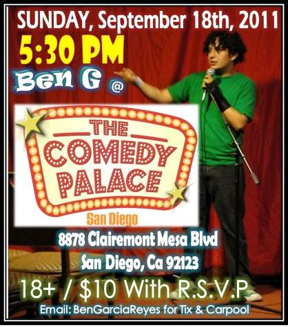 Ben G at Comedy Palace Sep 18 2011