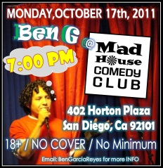 Ben G at Mad House 10.17.11