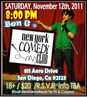 Ben G at NY Comedy Club Nov 12 2011