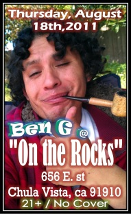 Ben G at On Teh Rocks 8.18.11