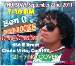 Ben G at On The Rocks 9.22.11