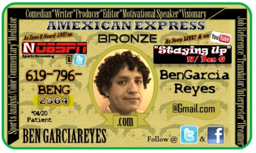 Ben G Buisiness Card Amexican Express Corrected Number
