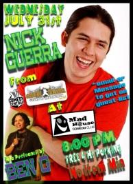 Ben G on Comedy Juice MH 7.31.13 w Nick Guerra