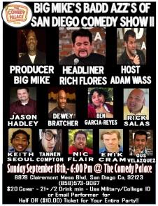 Big Mike Show II Comedy Palace Flier