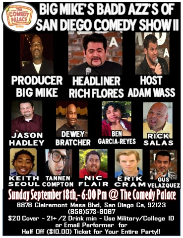 Big Mike Show II Comedy Palace Flier