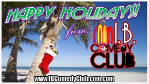 IB Comedy Club Holidays banner