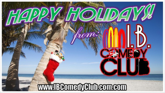 IB Comedy Club Holidays banner