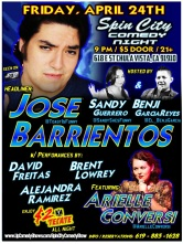 SPIN CITY COMEDY 04.25.15 Jose Barrientos FULL