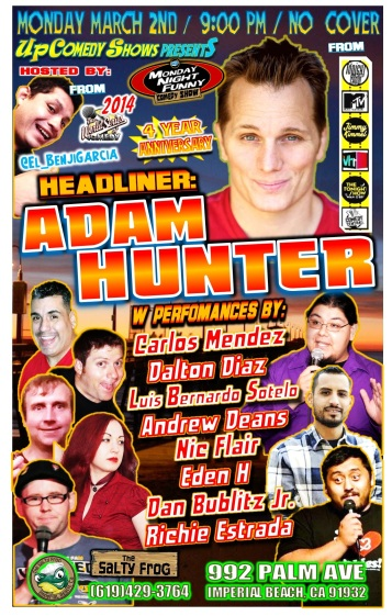 TSF 03.02.15 Adam Hunter ALL COMICS