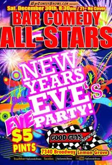 Bar Comedy All Stars sep 12.30