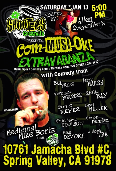 Shooters Comedy 01.13.17 - Full Line Up