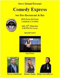 COMEDY eXPRESS jULY 26TH