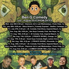 Promo Graphics - Up Coming Dates - Benji Comedy