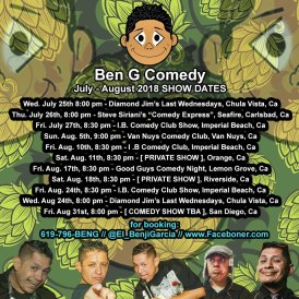 Promo Graphics - Up Coming Dates - Benji Comedy