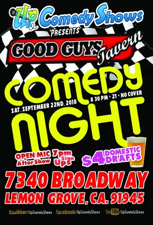 Good Guys Comedy Night - 09.22
