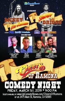 Cheers Ramona Comedy Night - 03.01.19 - 11X17