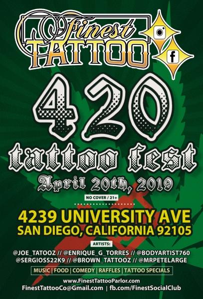 Finest Tattoo 4.20.19 - flyer 2.0