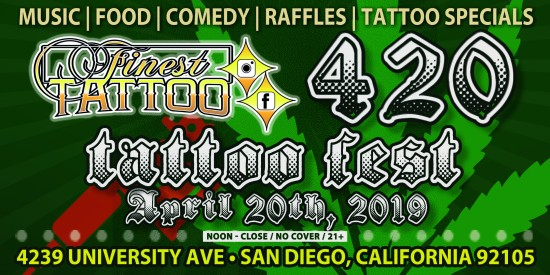 Finest Tattoo 4.20.19 - flyer.wide