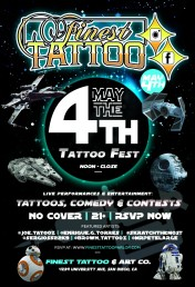 Finest Tattoo Event - May the 4th - 5.04.19 - 2.0 - flyer