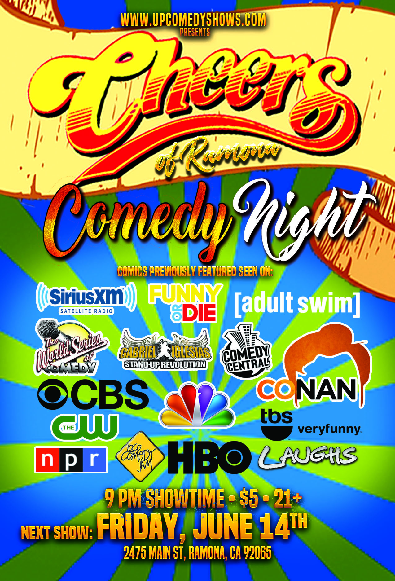 Cheers Ramona Comedy Night - 06.14.19 - General